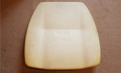 Seat backrest cushion moulded (late)