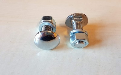 Chrome bumper bolts with nuts (pair)